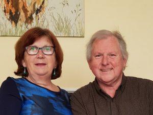 Hosts Robin and Hilary Levett